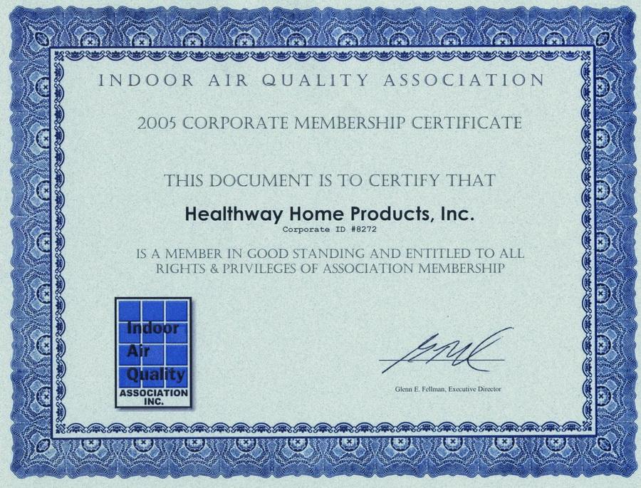 森乐T280空气净化器开发团队是美国室内空气质量协会成员