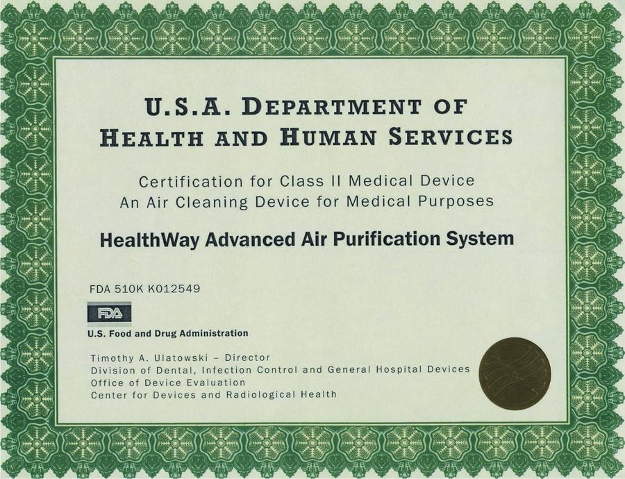 相关产品的FDA二级医疗器械认证