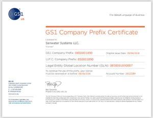 美国Senwater通过GS1北美编码中心注册认证2019