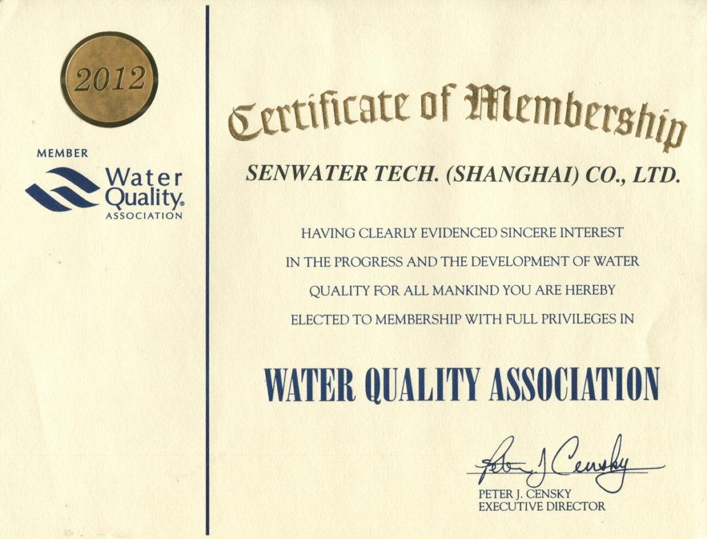 森乐公司WQA会员2012